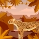 Flat Geometric Jungle Background with Cheetah - GraphicRiver Item for Sale