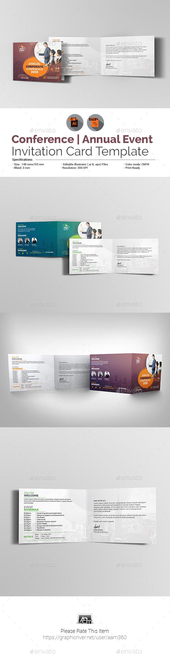 Summit Card Designs Invite Templates From Graphicriver