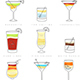 Poster Set of Flat Cocktails - GraphicRiver Item for Sale