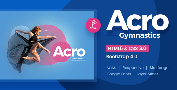 Acro | Gym And Fitness Academy HTML Template