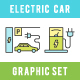 Electric Car Icons Set 9 in 1 - GraphicRiver Item for Sale