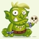 Sitting Ogre with a Skull - GraphicRiver Item for Sale