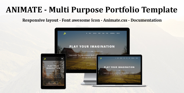 ANIMATE - Multi Purpose portfolio Muse Template