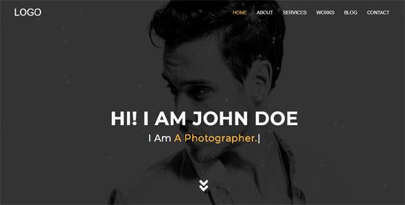 Explorer – Creative Portfolio One Page