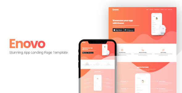 Enovo | App Landing Page Template