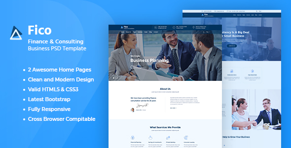 Fico - Finance HTML Template