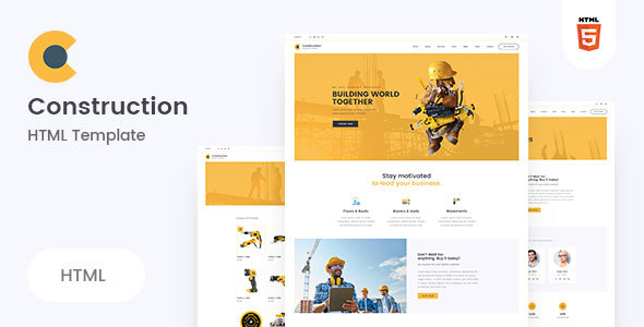 Construction - Clean Construction HTML5 Template