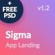 Sigma — App Showcase HTML Template + Stylish Cost Calculator - ThemeForest Item for Sale