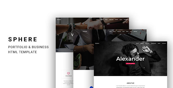 Sphere - One Page Template for Portfolio & Business