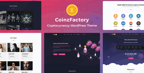 CoinzFactory - Cryptocurrency WordPress Theme