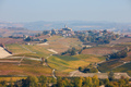 Serralunga d'Alba town on the hill surrounded by vineyards in Italy - PhotoDune Item for Sale