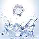 Ice Cubes Fall Into The Water - GraphicRiver Item for Sale