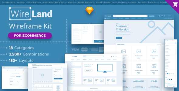 E-commerce Sketch App Templates from ThemeForest