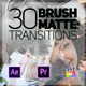 30 Brush Matte Transitions - VideoHive Item for Sale