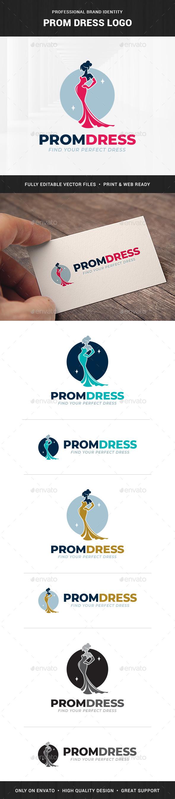 Prom Dress Logo Template