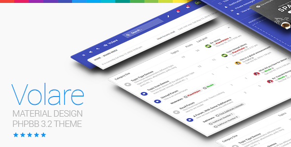 Volare - Material Design phpBB 3.3 Theme