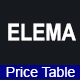 ELEMA - Bootstrap Pricing Tables - CodeCanyon Item for Sale