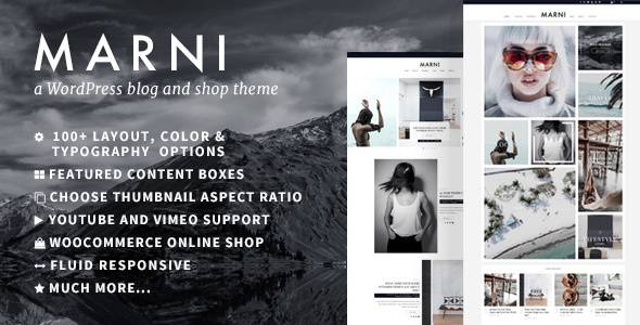 Marni – a WordPress Blog & Shop Theme