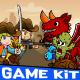 Cowboy vs Dragon Desert Theme Gamekit - GraphicRiver Item for Sale