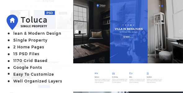 Toluca : Single Property PSD Template