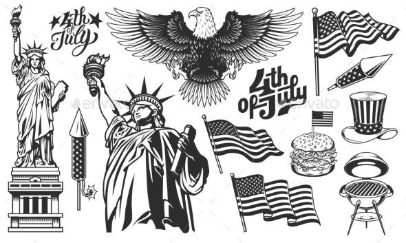 Set of Design Elements for Independence Day