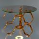 Honeycomb Glass Side Table - 3DOcean Item for Sale