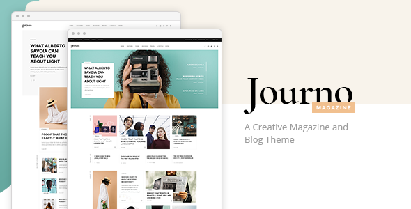Journo - Creative Magazine & Blog Theme