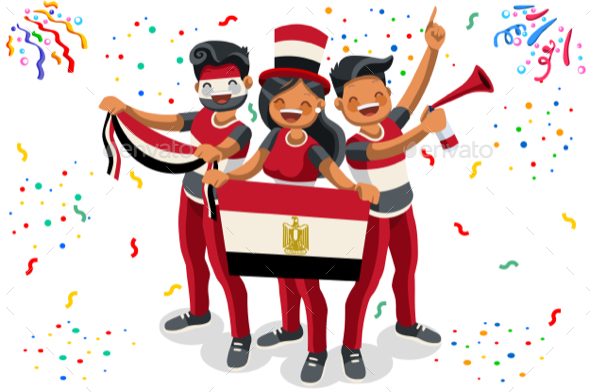 Russia with Egypt Flag