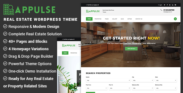 Appulse - Real Estate WordPress Theme