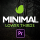 Minimal Lower Thirds for Premiere - VideoHive Item for Sale