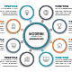 Simple Modern Circle Infographics with 08 Steps - GraphicRiver Item for Sale