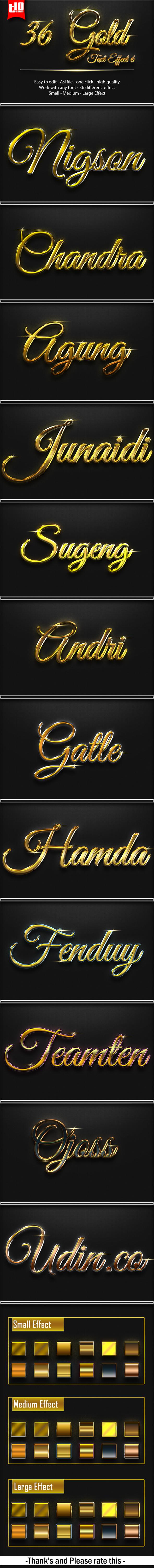 36 Gold Effect 6