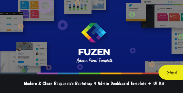 Fuzen - Modern & Clean Responsive Bootstrap 4 Admin Dashboard Template + UI Kit