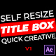 Title Box - Auto Resizing Titles and Lower Thirds - VideoHive Item for Sale