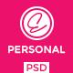 Eva - Personal Portfolio PSD Template - ThemeForest Item for Sale