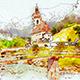 Realistic Watercolor Urban Sketcher Photoshop Action - GraphicRiver Item for Sale