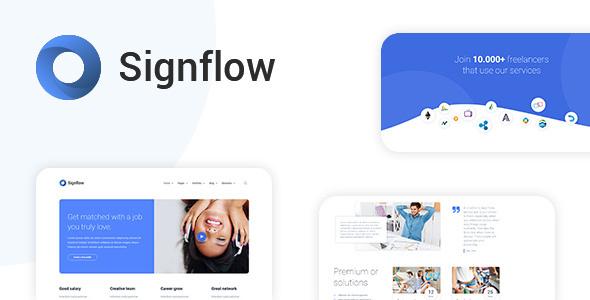 Signflow - Ultra Modern Tech & Startup Drupal 8.7 Theme