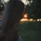 Beautiful Pregnant Girl at Sunset Stroking the Belly in Motion - VideoHive Item for Sale