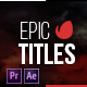 Epic Titles 2.0 - VideoHive Item for Sale