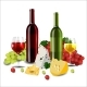 Red and White Wine in Bottles and Glasses - GraphicRiver Item for Sale