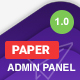 Paper Panel Multipurpose Admin Dashboard Bootstrap 4 Template - ThemeForest Item for Sale