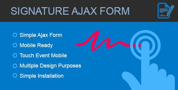 Signature Form - Ajax form with canvas signature Download
