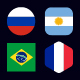 World of Football Russia Cup 2018 - Flag Icons - GraphicRiver Item for Sale