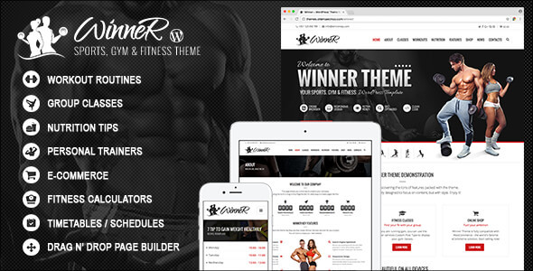 Winner - Sports, Gym & Fitness WordPress Theme