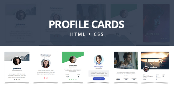Profile Cards - CSS3 Responsive Cards