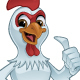 Cartoon Rooster Giving a Thumbs Up - GraphicRiver Item for Sale