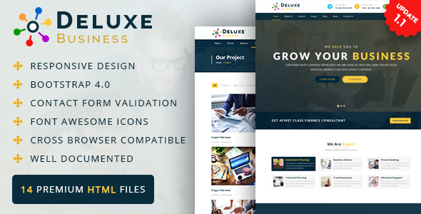 Deluxe Business HTML Template