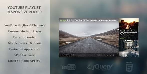 Modern HTML5 Responsive Youtube Playlist Player Free Download #1 free download Modern HTML5 Responsive Youtube Playlist Player Free Download #1 nulled Modern HTML5 Responsive Youtube Playlist Player Free Download #1