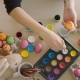 Girl Painting Eggs for Happy Easter Time at Home - VideoHive Item for Sale