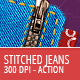 Stitched Jeans Action - 300 DPI - GraphicRiver Item for Sale